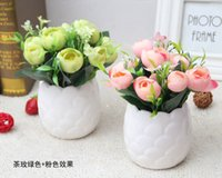 Wholesale silk rose flower bunches wholesale - 1 Bunch peony silk flower Artificial Fake Silk Daisy Flower Bouquet Home Wedding Party Decoration vases for wedding flowers