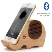 Wholesale Wooden Mobile Phone Holders - Multifunctional Wooden Elephant Shaped Bluetooth Speaker with Mobile phone Stand,Cartoon Wood Animal Elephant Pen Holder &Mobile phone Stand