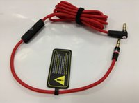 Wholesale Replacement Mixr - 3.5mm Replacement Red Cables for Studio Heaphones with Control Talk and MIC Extension Audio AUX Male to Male for MIXR
