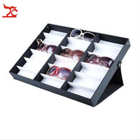 Wholesale Earrings Tray Display - Portable Glasses Storage Display Case Box 18Pcs Eyeglass Sunglasses Optical Display Organizer Frame Tray