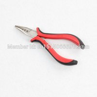 Wholesale Micro Loop Hair Extension Pliers - Wholesale-Wholesale Nose extension Pliers 3 holes plier for I-tip stick tip&feather hair extension pliers Micro ring Loop DIY Tool vise