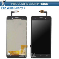 lcd cep telefonları için ekranlar toptan satış-Toptan-Wiko Lenny 3 Için LCD Ekran + Dokunmatik Ekran 100% Wiko Lenny 3 Cep Telefonu Için Orijinal Ekran Digitizer Meclisi Değiştirme