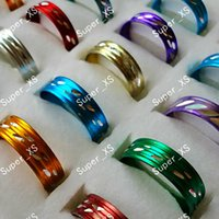 Wholesale Pretty Sale - Wholesale Jewelry Ring Lots Hot sale nice pretty multicolor aluminum alloy Rings Good quality LR098 free shipping