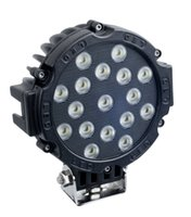 Wholesale Lighting 51w Led Round - 7Inch 51W Car Round LED Work Light 12V High Power 17 X 3W Spot Light For 4x4 Offroad Truck Tractor ATV SUV Driving