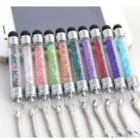 Diamante de lujo Crystal Touch pantalla táctil Stylus Ball Bling Pen Pens para iphone PC Tablet iPad