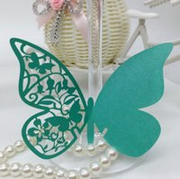 paper cutting shapes NZ - Cheapest Colorful Butterfly Shaped Laser Cut Paper Place Card   Escort Card   Cup Card  Wine Glass Card For Wedding Decoration First Class