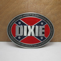 Wholesale Dixie Rebel - BuckleHome Fashion DIXIE belt buckle rebel belt buckle with pewter finish FP-02691 free shipping