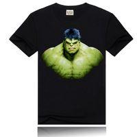 Wholesale Hulk T Shirts - Hulk 3D printing t shirt new fashion men's crew neck cotton t-shirt 2016 Summer rock t shirt