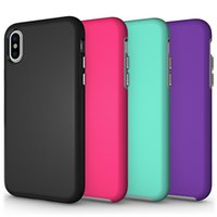 Wholesale Phone Protective Cases - Shockproof Antiskid Case For IPhone X 8 7 6 6S Plus Case Protective High Quality Cell Phone Cases For Samsung Note8 S8 S8Plus