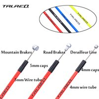 Wholesale Cycle Gear Cables - MTB Bike Brake Line Tube Kits 5mm Mountain Road Bicycle Brake Cable and 4mm Shift Gear Derailleur kits Cycling Accessories PVC