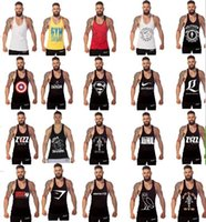 Wholesale Kinds Tops For Men - cotton golds gym tank top men Sleeveless tops for boys bodybuilding clothing Sport undershirt wholesale vest 20 styles 100 kinds of colors