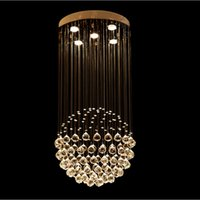 Wholesale Stainless Steel Hanging Ceiling - VALLKIN Crystal LED Chandelier Lighting Ceiling Hanging Lamps Fixtures with D50CM H100CM Ac 100 to 240V For Living room CE FCC
