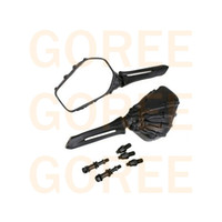 Wholesale Dyna Mirror - Black color Big Skull Side Rear View Mirrors Fit For Harley Sportster Dyna Softail Fatboy Electra