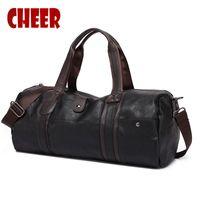 Wholesale Suitcase Large - Wholesale- Hot Selling male bag fashion Travel handbags Oil wax Large capacity Designer handbag soft skin high quality Casual travel bags