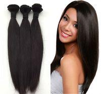 kalın saçları demetle toptan satış-% 100 İşlenmemiş Brezilyalı Hint Malezya Peru İnsan Bakire Düz Saç Kalın Uçlar Ve Full Paketler yok Ücretsiz Kargo dökülme