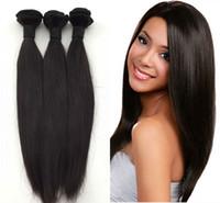 brezilya saç dökülmesi toptan satış-100% Işlenmemiş Brezilyalı Hint Malezya Perulu İnsan Virgin Düz Saç Kalın Ends Ve Tam Demetleri Hiçbir dökülme Ücretsiz Nakliye