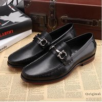 Wholesale Men Suits For Work - Fashion Mens Office Dress Dhoes Genuine Leather Breathable Italian Designer Men Work Shoes Flats Suit for Party Size 45