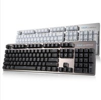 Wholesale Keyboard For Games - E-3LUE K753 Mechanical Keyboard 104 Keys with White Backlight Blue Switch for Gamers with White Backlight For PC Laptop Games