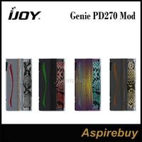 ingrosso adesivi mod box mod-IJOY Genie PD270 Box Mod 234W GENIE PD270 Box Mod Retroilluminazione RGB Dual 20700 Batterie Box Mod Adesivi personalizzati in pelle 100% Originale