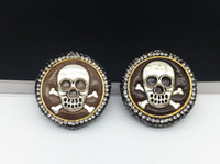 Wholesale Imports Tv - Wholesale 5 Pieces Silver-Plated Skull Beads, Imported Cortex, Inlaid Crystal Rhinestones And Zircon's Connector Beads For Jewelry Making