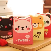 Atacado - 2PCS / LOT Cartoon Mini Notebook Small Gift Special Wholesale Papelaria Little Book Animal Picture Special Shaped