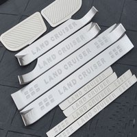 Wholesale Door Pedal - Stainless Steel Interior+Exterior Scuff Plate Door Sill For LAND CRUISER Oil Brake Rest accelerator Pedal Car Styling Accessories 10pcs set