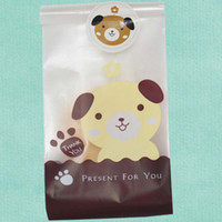 Wholesale Biscuit Dog - 50pcs Pack Lovely Dog Pattern Gift Packaging Bag Candy Bags Biscuit Cookies Bags Party Supplies Material Escolar Papelaria