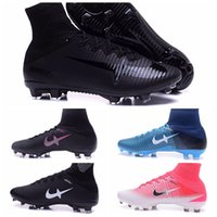 Wholesale Ankle Boots 11 Men - 2017 New High Ankle Soccer Mercurial Superfly V Football Boots Neymar CR7 Soccer Shoes Ronaldo Soccer Cleats Ankle-High Shoes Size US6.5-11