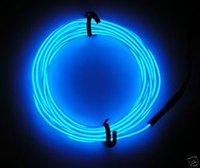 el tel neon blue toptan satış-Yüksek Kalite Ve Tasarrufu Power1mm Boyut EL 50M Uzunluk Mavi Renk Floresan Lümen EL Neon Işık Tel (YOK İnvertör)