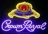 Wholesale Crown Royal Neon Lights - Neon Light Sign. LED sign Crown Royal Helmet LIGHT Neon Beer Sign Bar Sign Real Glass Neon Light Beer Sign 48cm*35cm
