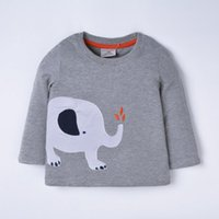 Wholesale Wholesale Childrens Shirts Free Shipping - 2016 Autumn Childrens Long sleeved T-shirt With Cartoon Design Kids long tshirts cotton girls Bottoming shirts top quality free shipping