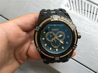 Wholesale Mountaineering Watches - New Outdoor Mountaineering High Quality Large Dial Stainless Steel Wire Men's Watch NOMOS Silicone Tape INVICTA