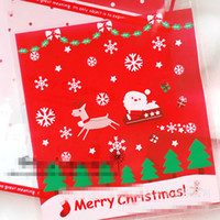 Wholesale Pastry Bags Packaging - Christmas Gift Wrapping Bags Baking Food Plastic Packaging Bag Christmas Decorations Packaging Biscuit Dessert Cake Pastry Bags Wholesale
