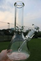 Wholesale Elephant Oil - 9mm beaker Bong Thick Glass oil rigs 12 inches With elephant Joint Super Heavy glass water pipe 14 18 downstem 14mm bowl