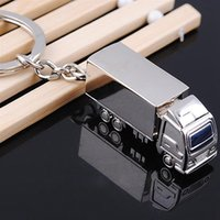Wholesale Truck Keyring - Cute Metal Truck Lorry Car Key Ring Keyfob Keychain Creative Gift Lovely Keyring