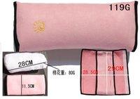rosa graue bettwäsche-sets großhandel-Auto-Sicherheitsgurt-Schulterpolster-Sets Sitzkissen Schutzhülle Baumwollkern Das Auto kann mit einem niedlichen Bett gehen