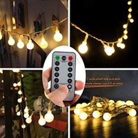 2017 NOUVEAU 16 Feet 50 LED Outdoor Globe String Lights 8 Modes Batterie Fosée Blanc Ball Fairy Light dimmable Ip65 imperméable MYY