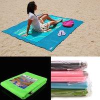 Wholesale Magic Mat Dhl - 120*150cm sand free mat Outdoor Camping Travel Foldable Sandless Pad Tapis De Plage Summer Magic Sand Free Beach Mat DHL TNT Free