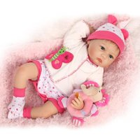 "Wholesale Dolls Adora - 22"" Life Like Real Baby Doll Girls Boneca Adora Baby Doll Birthday Gift Doll Set with Pink Soft Baby Clothes"