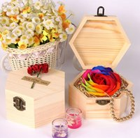 """Wholesale Wooden Flower Boxes Wholesale - 3.5"""" Handmade Multicolor Rose Flower Bath Soap with Luxury Wooden Box Valentine's Day Birthday Wedding Gift"""