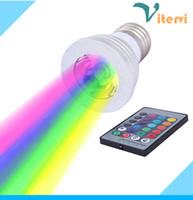Wholesale Led Spot Rgb Mr16 - 3W E27 E14 RGB LED Spotlight bulb GU10 MR16 GU5.3 Spot light bulb 16 Color IR Remote Controller AC85-265V DC12V RGB bulb