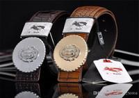 Wholesale Women Width Belt - Fashion Men's Snakeskin grain Leather Belts Luxury The H Smooth gole silver buckle Belts High Quality The Eagle Printing Belt Width 3.8