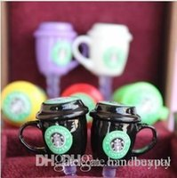 Wholesale Iphone Starbucks Dust Caps - Wholesale New 600PCS Lot 3.5mm StarBucks Cup Anti Dust Cap Charm Plug Earphone Jack Dustproof Cover for iPhone 4 iPhone 5 RJ1508 0416dd