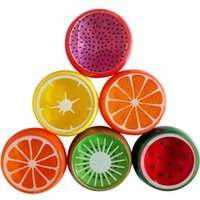 Wholesale Fruit Crystals - Baby Fruit Smile face Crystal Mud Crystal Clay Jelly Slime Mud 6*6cm Plasticine Mud Playdough For Kids 6 Styles C2590