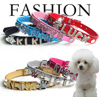 Wholesale Top Dog Leather Collars - 40% off Special Offer!Best Selling Top Quality Pu Leather Personalized DIY Name Dog Pet Collar Pet Product (Price exclude sliders)