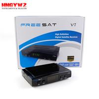 Wholesale Dvb Converter - spain DVB tuner satellite receiver freesat v7 hd support DVB S2 3G Cccamd Newcamd digital tv converter boxes