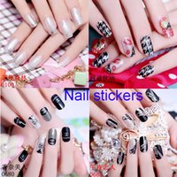 Wholesale Polish Tattoos - Nail Art Sticker Nails Beauty Wraps Foil Polish Temporary Tattoos Nail Sticker Decal Tip Nail Art Manicure Mix Color For Nail Decoration