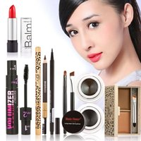 All'ingrosso-Donne Fashion Makeup Set regalo Gel Eyeliner Eyeliner Penna Matita per sopracciglia Sexy Rossetto Sopracciglio Powder Mascara Tool Kit Value Pack