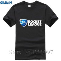 Wholesale Hip Hop Custom Shirts - Team Rocket League Tee Shirt Men Hip Hop White Short Sleeve Custom 3XL Party Tee Shirts Short Sleeve O-Neck Cotton T-shirt