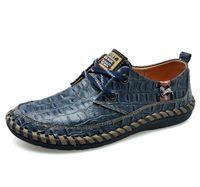 балетная обувь оптовых-Мужская кожа аллигатора печатных балетки человек тенис роскошные мокасины обувь для мужчин мода партии повседневная мужская кожаная обувь